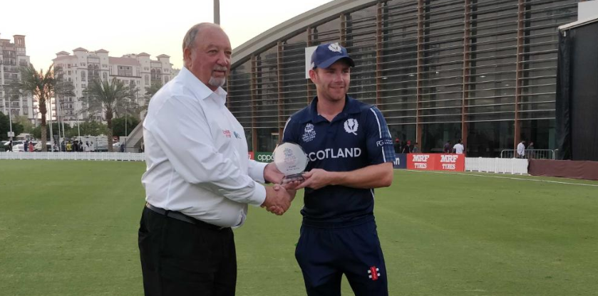 Matthew Cross was a well-deserved Player of the Match ©ICC