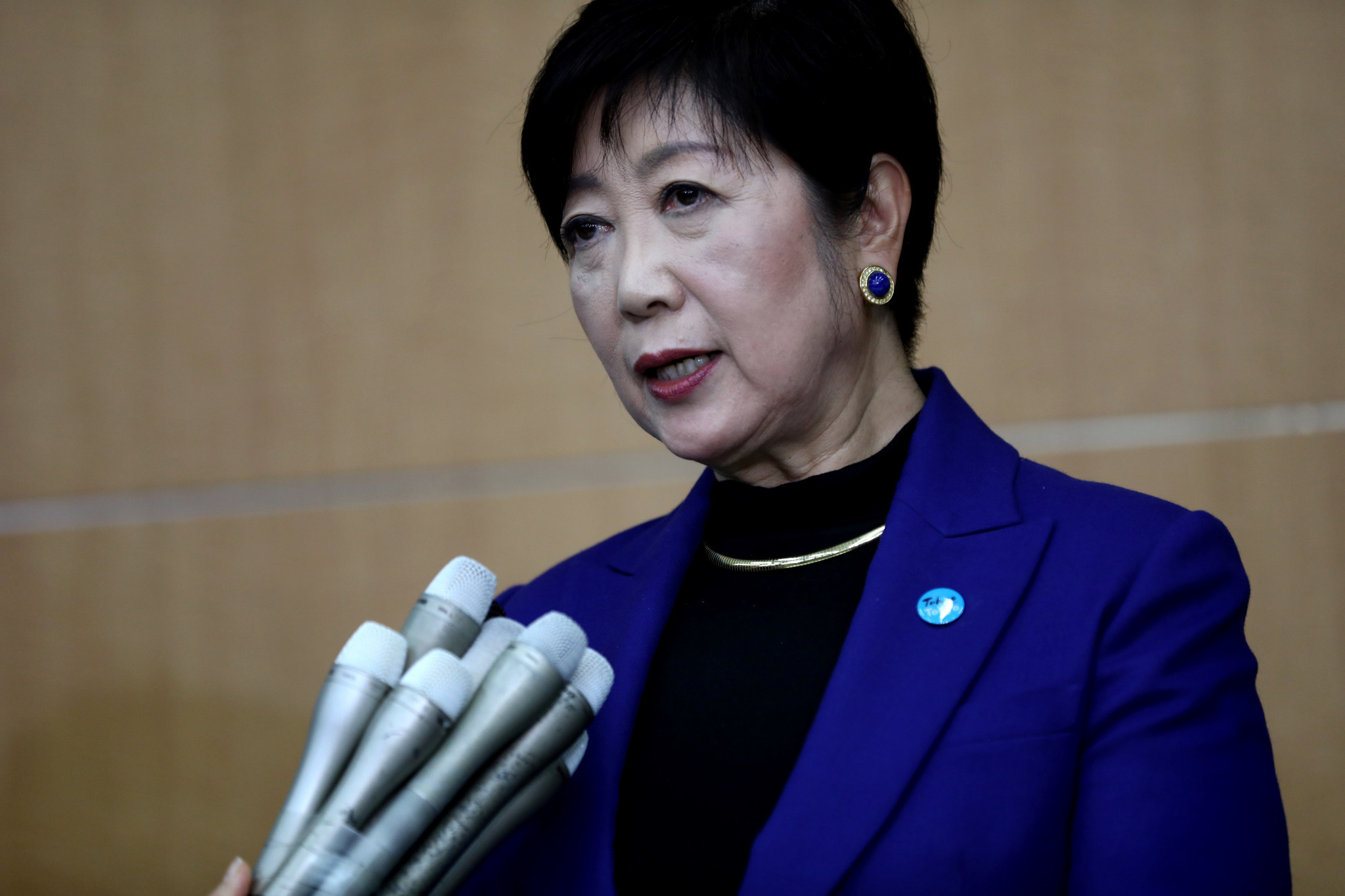 Tokyo Governor Yuriko Koike said she would not obstruct the move, but did not agree with the decision ©Getty Images