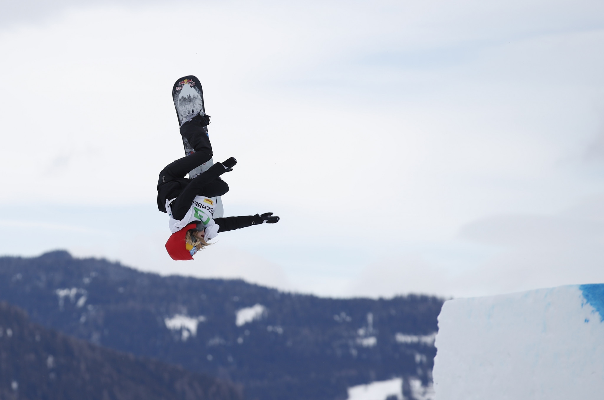 Anna Gasser of Austria is the favourite in the women's FIS Snowboard Big Air World Cup event in Modena ©Getty Images