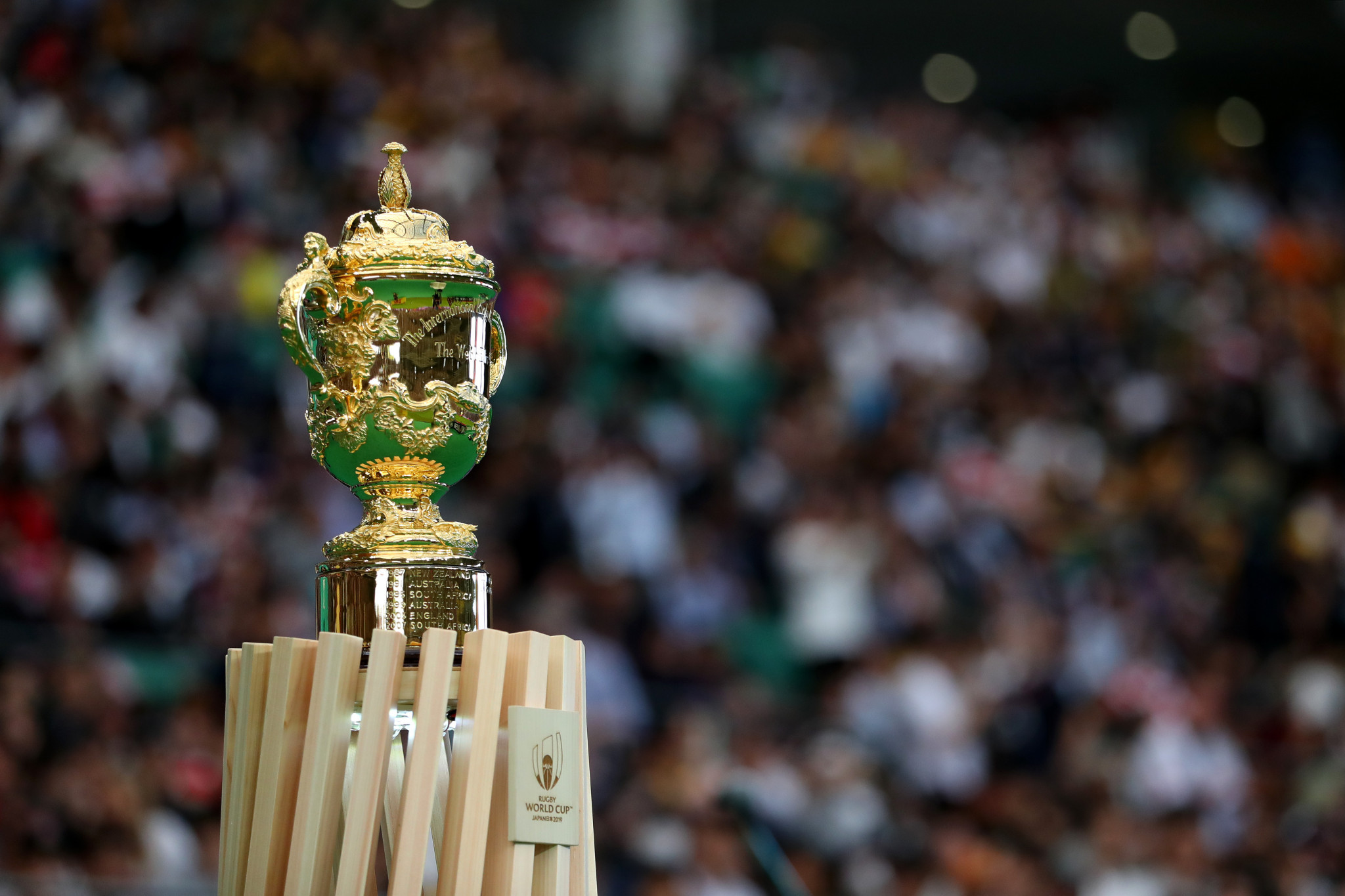 South Africa will be aiming to lift the Rugby World Cup trophy for the third time, while England are seeking their second title ©Getty Images