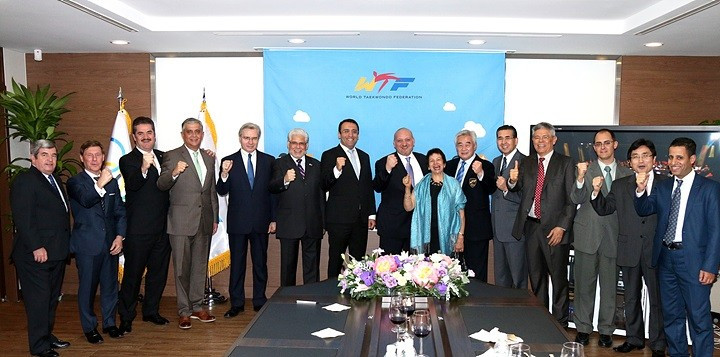 WTF President Choue updates Seoul-based ambassadors on taekwondo progress