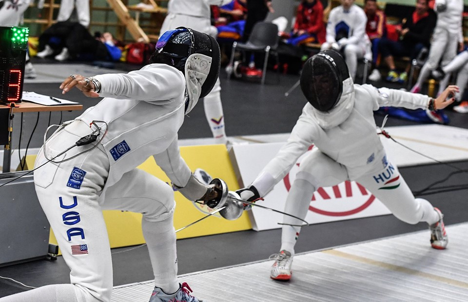 The United States' Catherine Nixon is through to the last-64 at the FIE Women's Épée World Cup in Tallinn ©FIE/Facebook/Augusto Bizzi