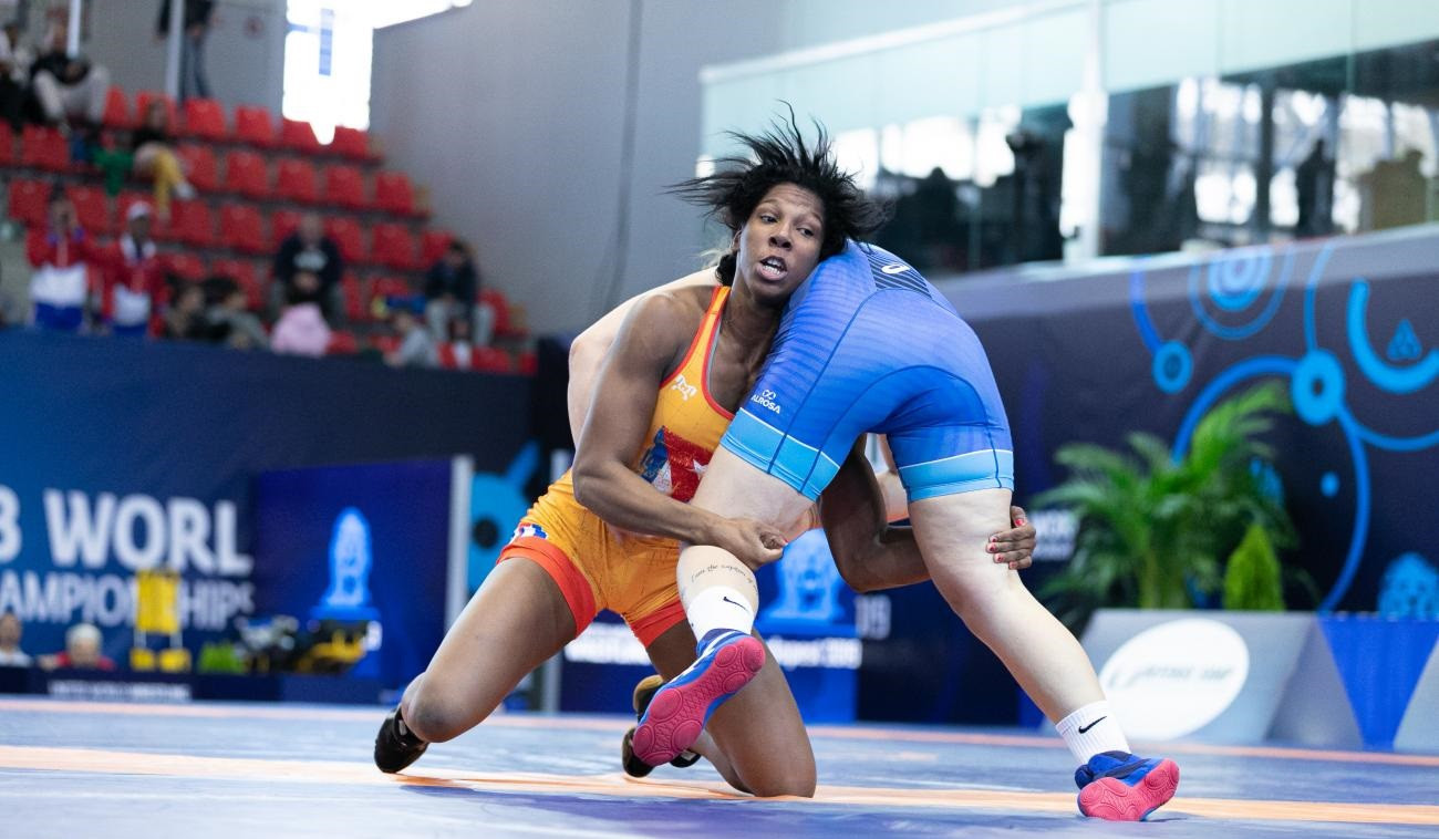 Cuba's Milaimys de la Caridad Marin Potrille produced an impressive performance today at the UWW Under-23 World Championships in Budapest ©Kadir Caliskan/UWW