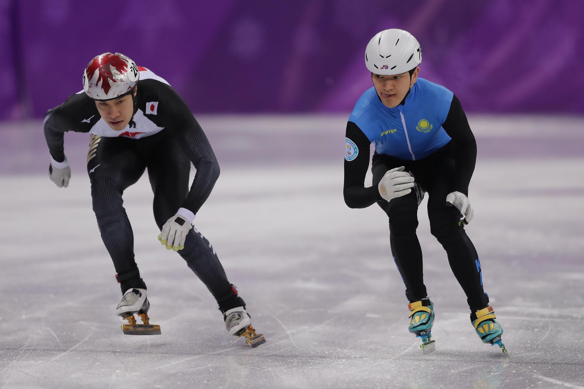 Azhgaliyev shines on day one of ISU Short Track Speed Skating World Cup