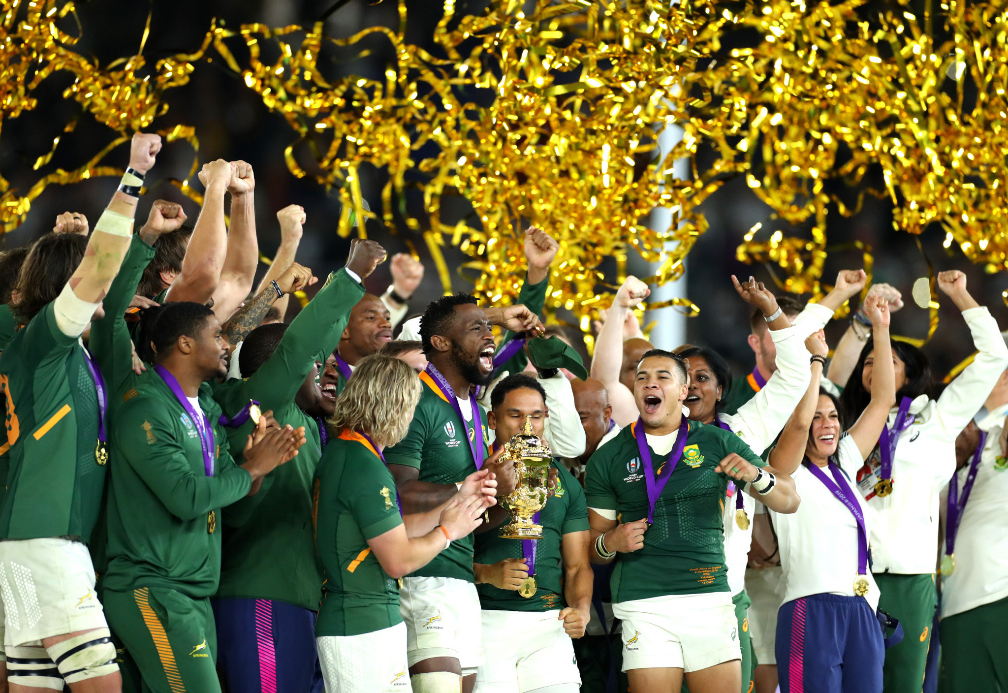 South Africa emphatically celebrated winning the 2019 Rugby World Cup ©Getty Images