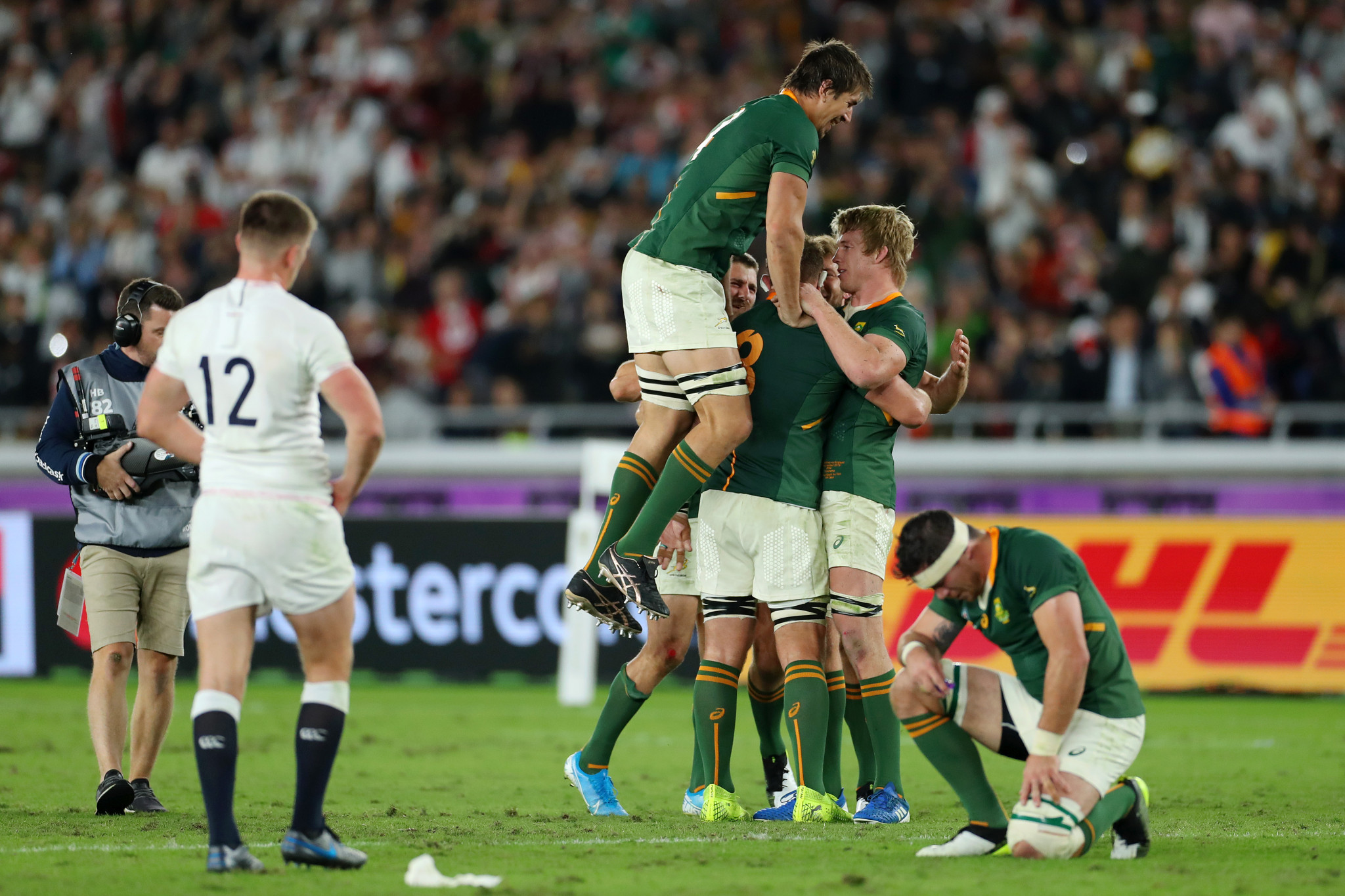 The final whistle went with South Africa boasting a 32-12 lead ©Getty Images