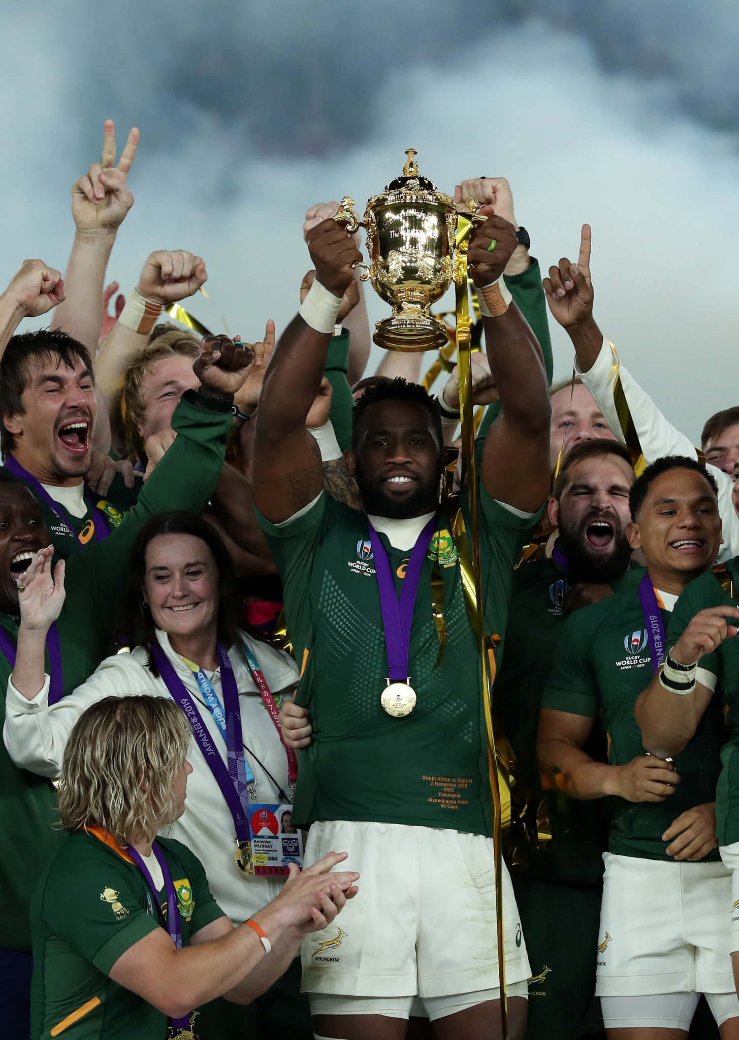 Kolisi hopeful South Africa's Rugby World Cup triumph will inspire kids back home