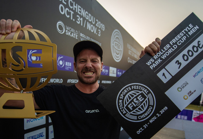 Wellsmore claims gold in roller freestyle at FISE World Series