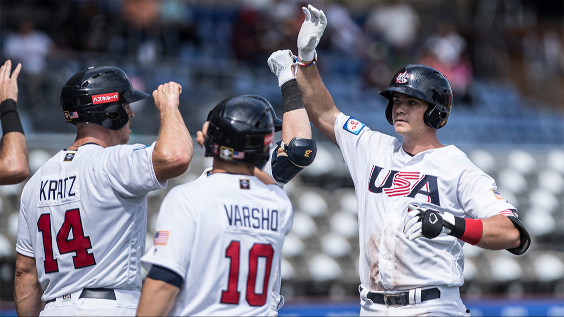 The United States overcame The Netherlands in the opening match of the WBSC Premier12 in Guadalajara ©WBSC