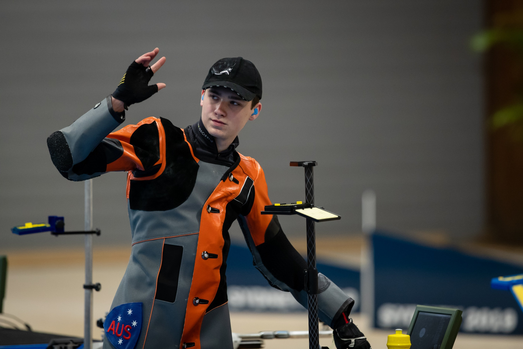 Alex Hoberg triumphed in the men's 10 metres air rifle final on a successful day for hosts Australia at the Oceania Shooting Championship in Sydney ©Shooting Australia