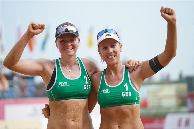 Karla Borger and Julia Sude of Germany were the victors in the women's competition ©FIVB