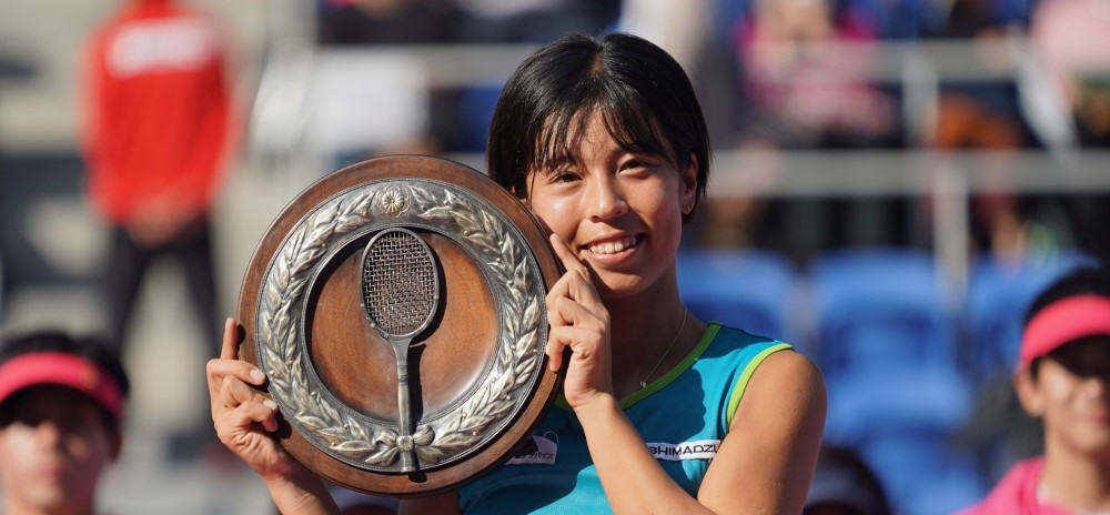 Makoto Hondama was the women's winner at the All Japan Tennis Championships - a test event for next year's Olympic Games in Tokyo ©Japanese Tennis Association