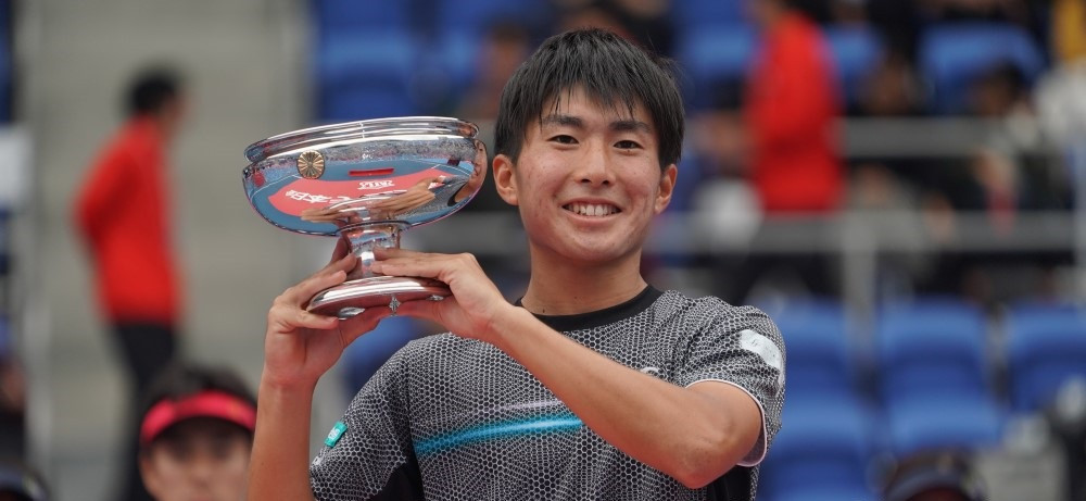 Ryo Noguchi was the winner in the men's All Japan Tennis Championships ©Japanese Tennis Association