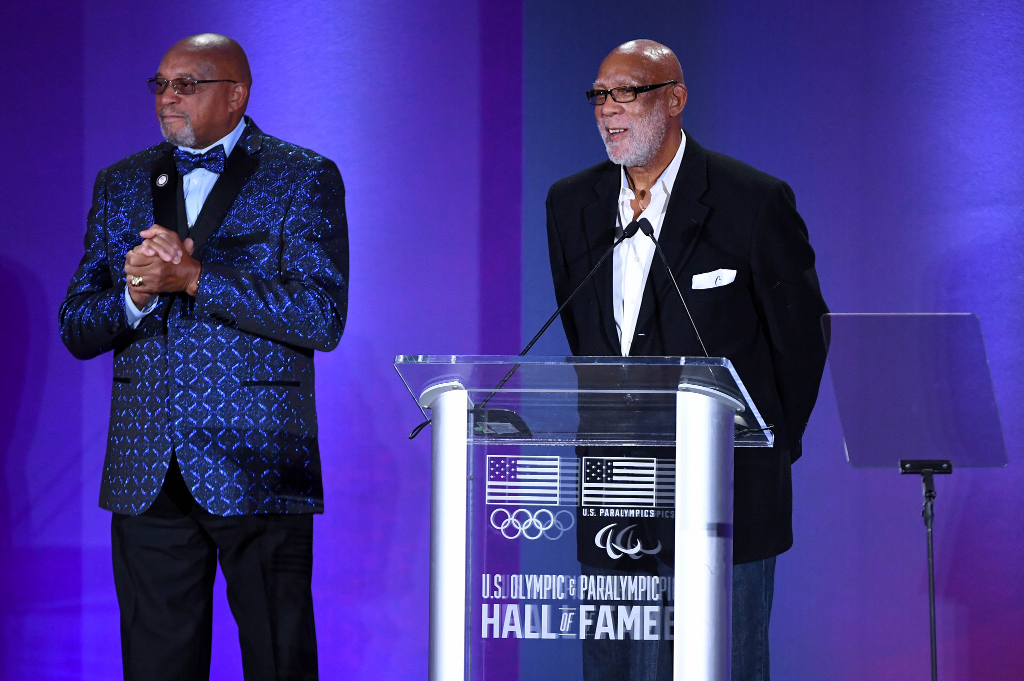 Black power sprinters Tommie Smith and John Carlos have been inducted into the USOPC Hall of Fame ©Getty Images