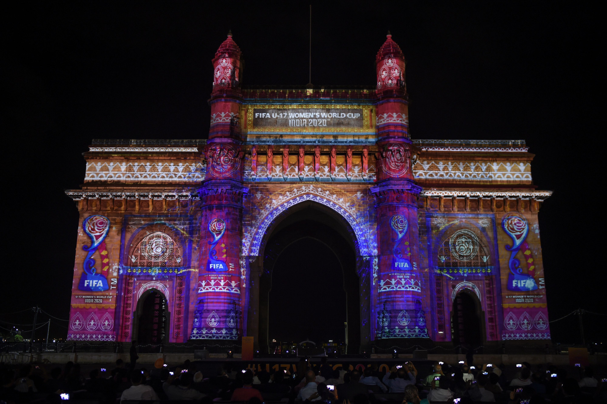 The logo was projected onto the Gateway of India monument ©Getty Images