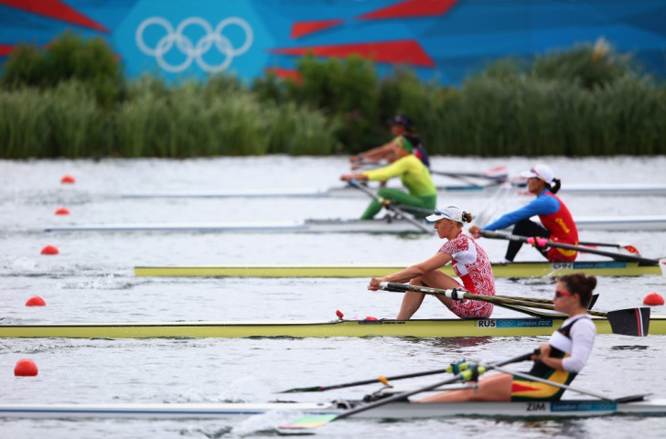 Micheen Thornycroft (foreground) during her quarter-final at the London 2012 Olympics. She eventually finished second in the C final, and is now aiming to reach the A final at the Rio 2016 Games ©Getty Images