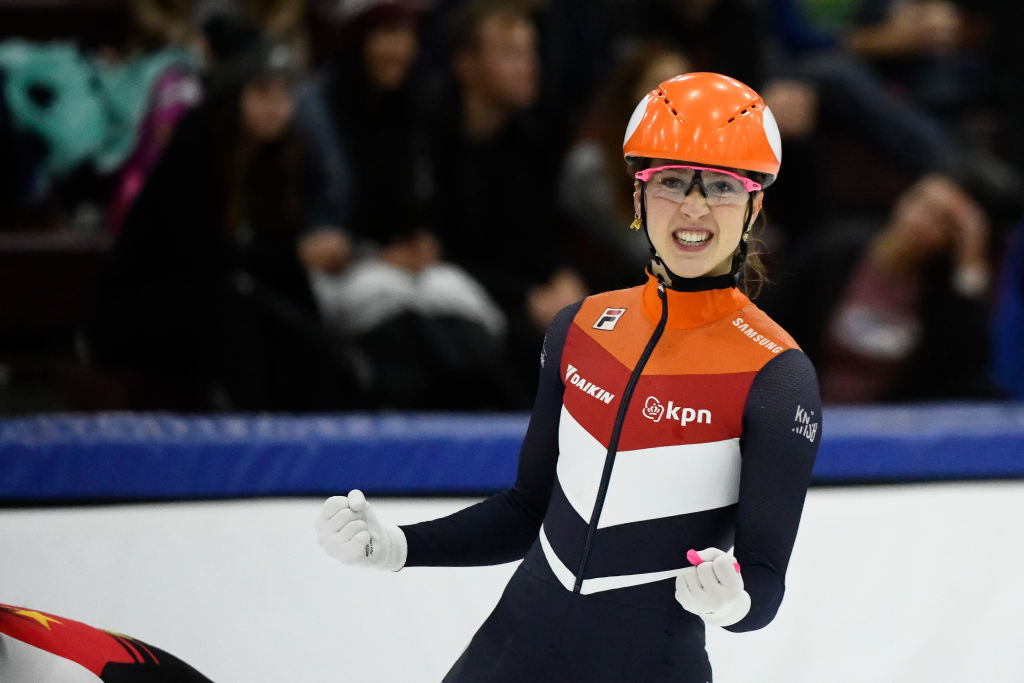 The Netherlands' Suzanne Schulting tasted victory in the women's 1,000m event ©ISU