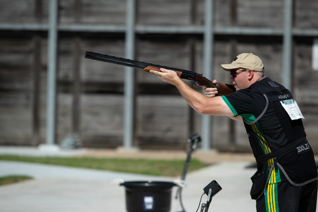 Australia's Paul Adams dominated the men's skeet final at the Oceania Shooting Championship in Sydney ©Narelle Spangher/Shooting Australia