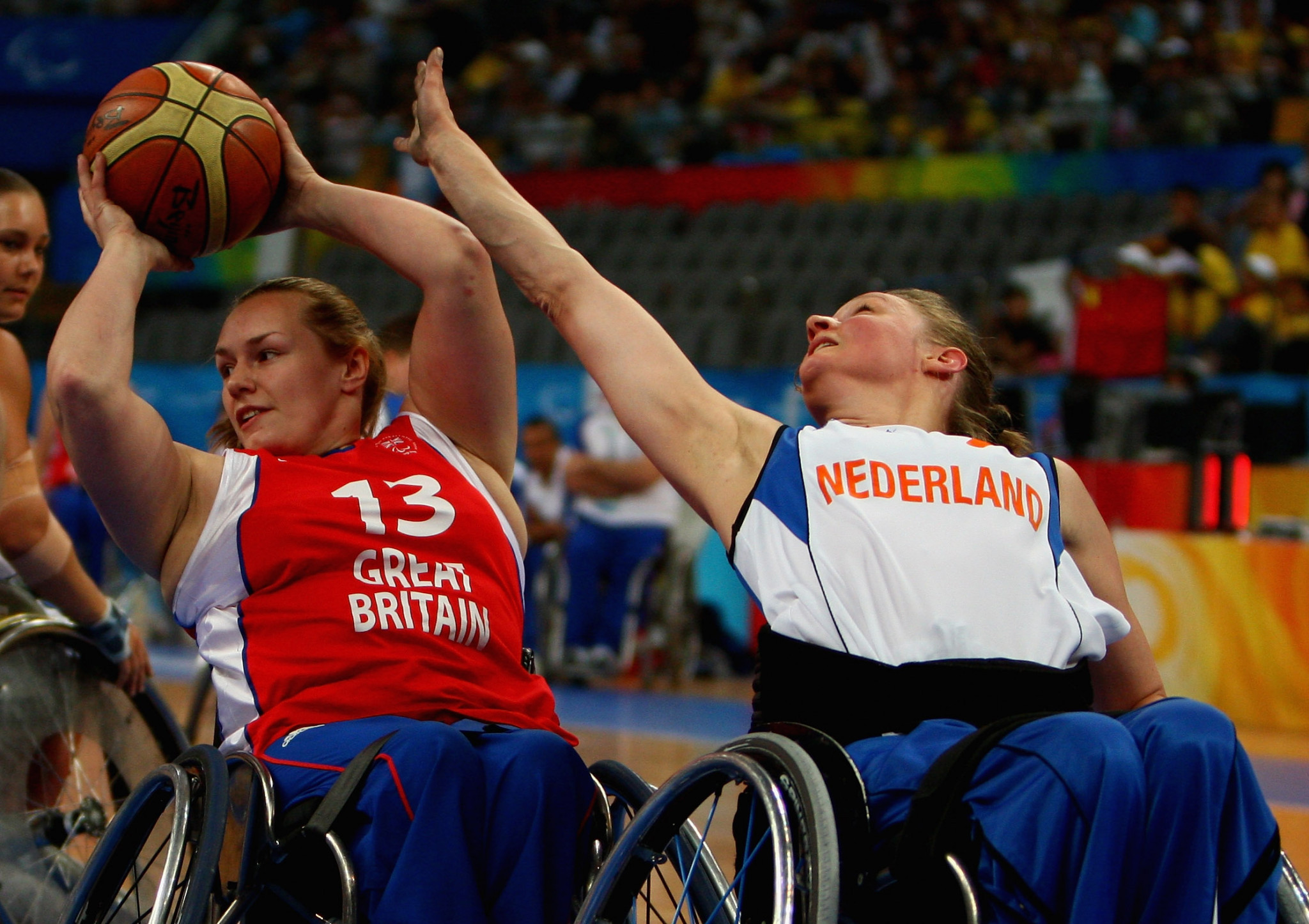 Barbara van Bergen made her Paralympic debut with the Dutch wheelchair basketball team at Beijing 2008 ©Getty Images