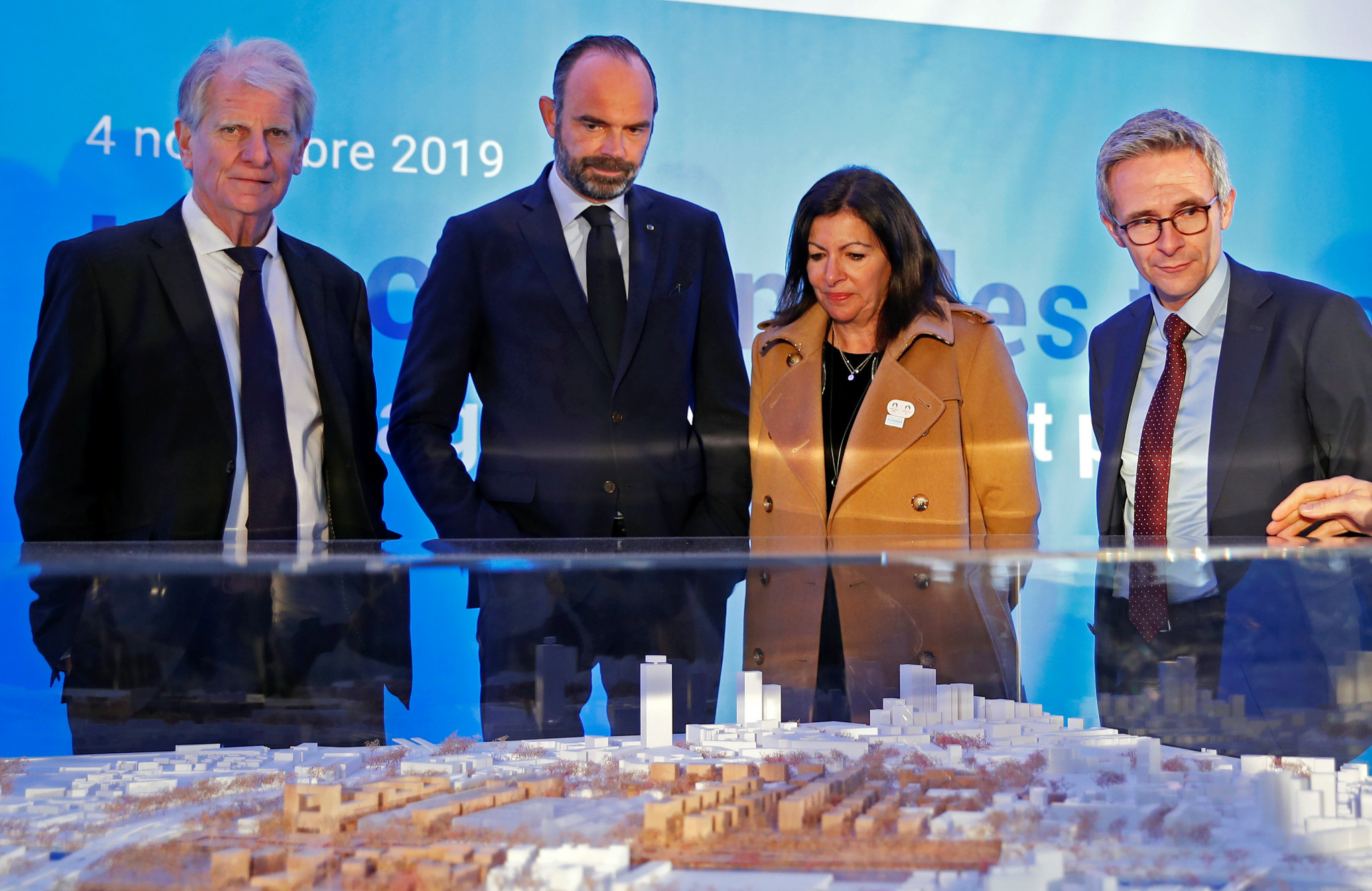 French Prime Minister Edouard Philippe led a delegation of officials at the launch of construction work ©Getty Images