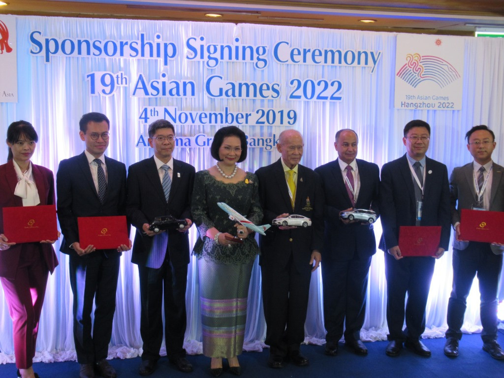 Hangzhou 2022 and OCA sign sponsorship deals with four companies