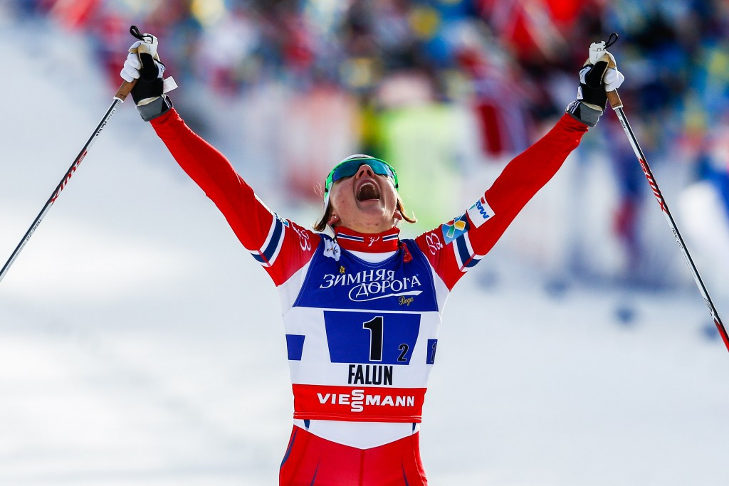 Maiken Caspersen Falla, pictured earlier this year, won the women's race today ©Getty Images