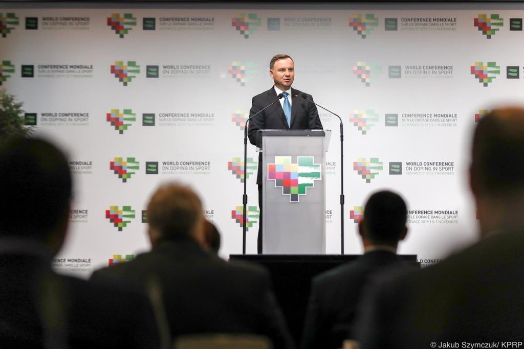 Polish President Andrzej Duda opens fifth World Conference on Doping in Sport in Katowice