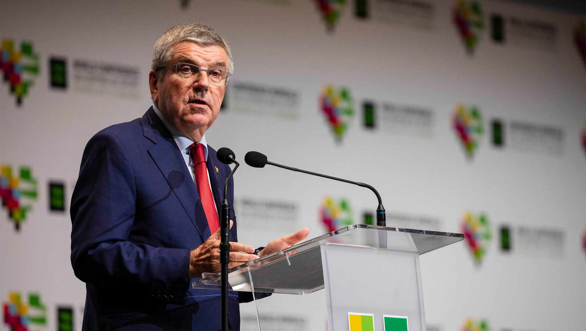 International Olympic Committee President Thomas Bach announced they were giving WADA another $10 million to help fight doping ©IOC
