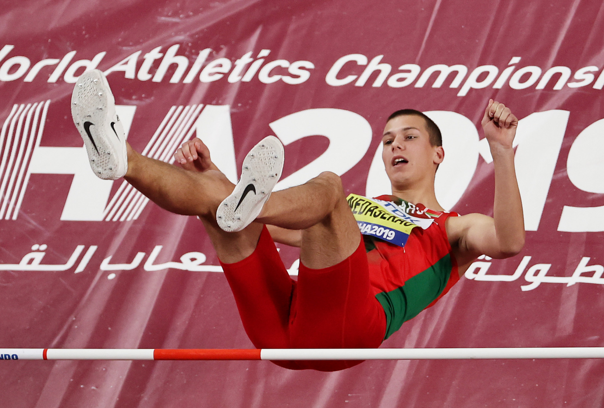 Dzmitry Nabokau competed for Belarus at this year's iAAF World Championships in Doha