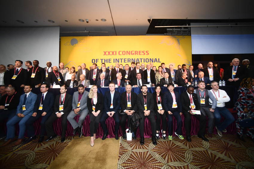 Representatives from 79 National Federations gathered at Grand Plaza Hotel in Cheongju for the International Sambo Federation Congress on the eve of this year's World Championships ©FIAS