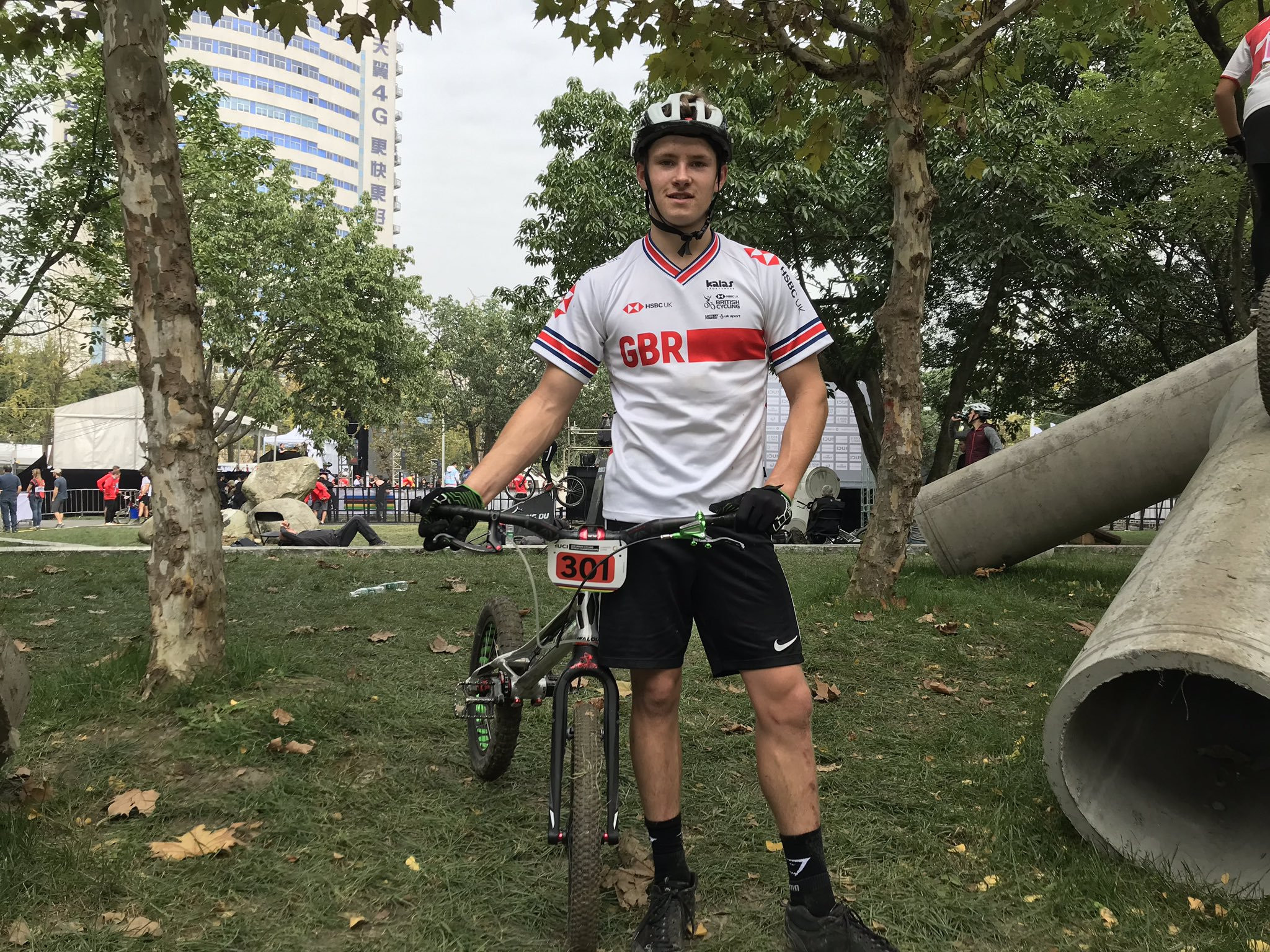 """Britain's Charlie Rolls scored 850 points out of 900 available to reach the men's junior 20"""" final at the UCI Urban Cycling World Championships in Chengdu ©UCI"""