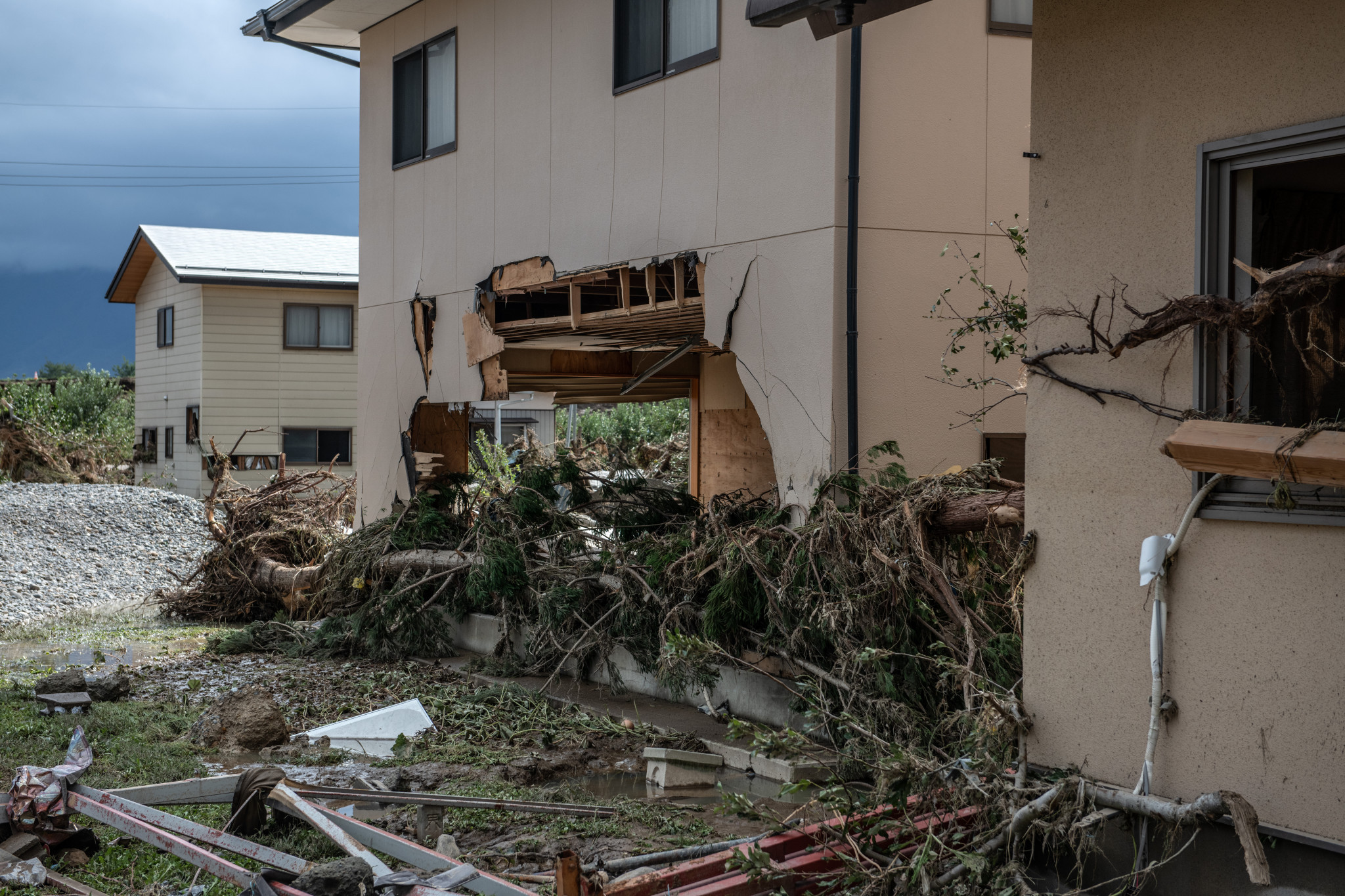 Typhoon Hagibis caused widespread destruction in Japan, including the death of nearly 90 people ©Getty Images