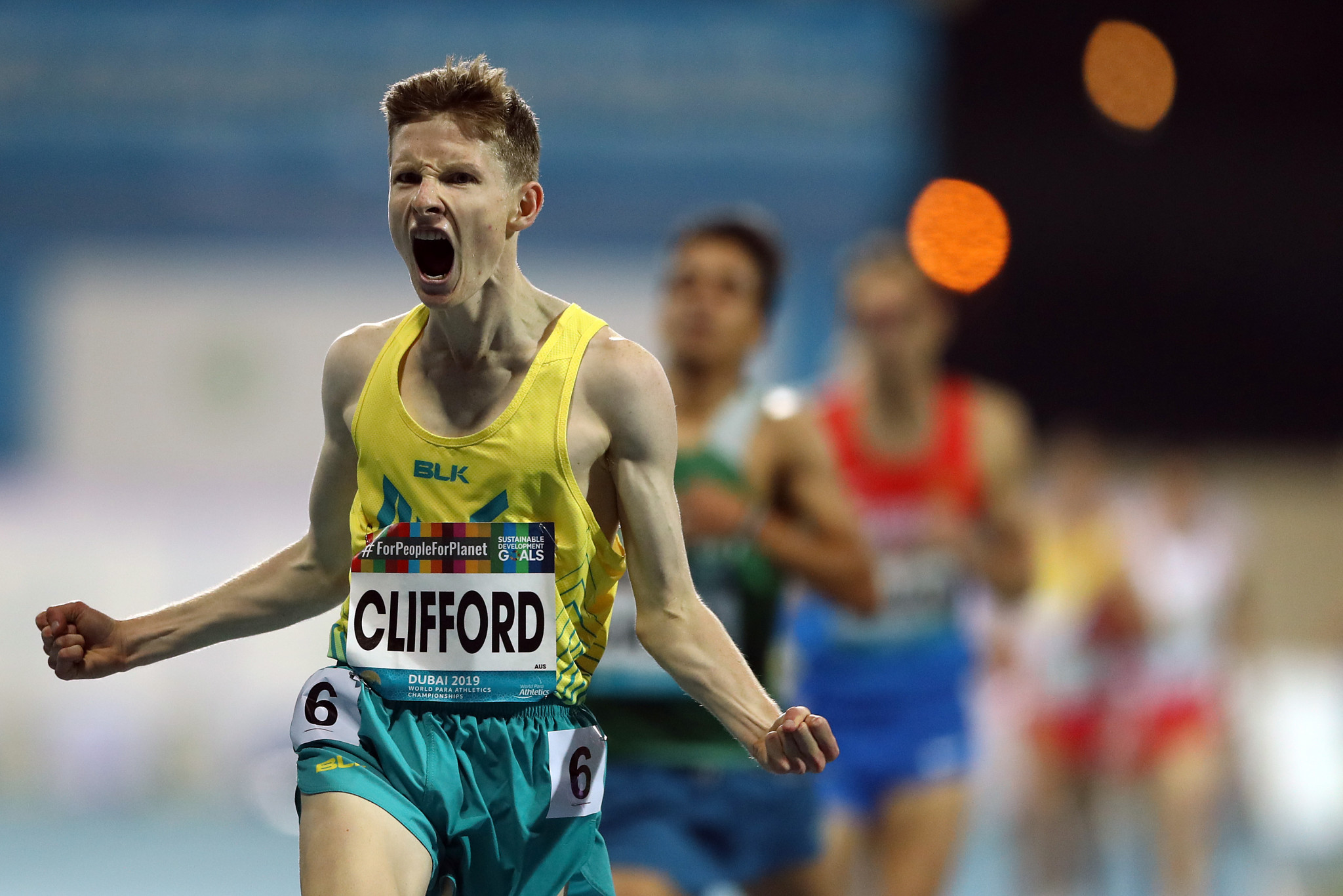 Jaryd Clifford won the men's 1500 metre T13 at the World Para Athletics Championships ©Getty Images