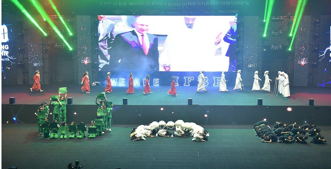 The IFBB Men's World Championships Opening Ceremony featured a number of musical performances ©IFBB
