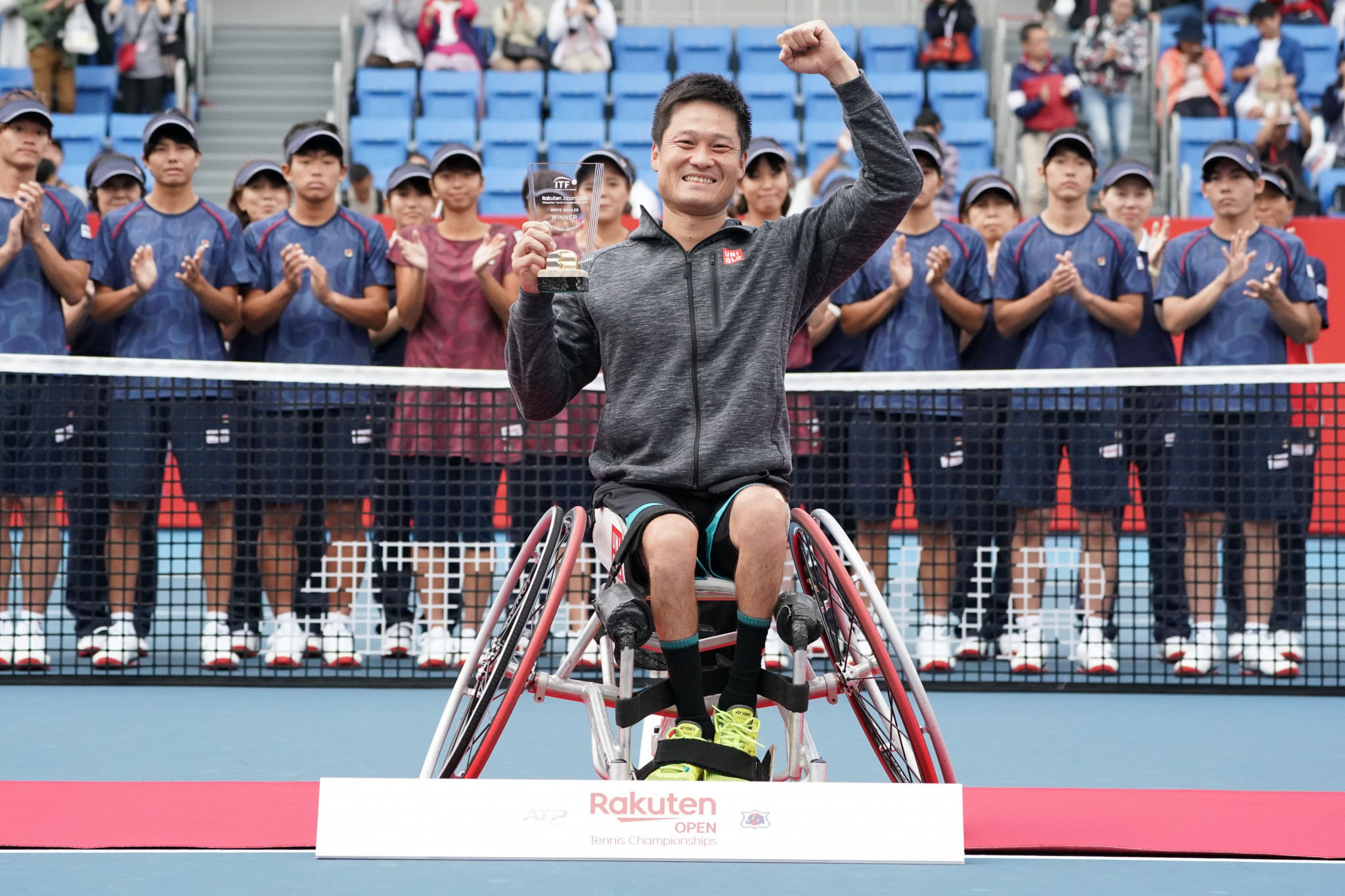 Japanese wheelchair tennis player Shingo Kunieda won the Japan Open in October ©Getty Images