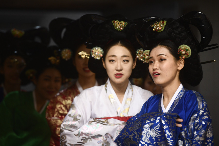 A traditional South Korean dance was demonstrated during the 45-minute Opening Ceremony in Cheongju ©FIAS