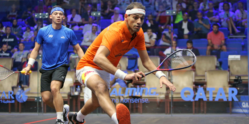 Egypt's Mohamed ElShorbagy remains second in the Professional Squash Association world rankings after a month in which no competition has been possible because of the coronavirus pandemic ©PSA