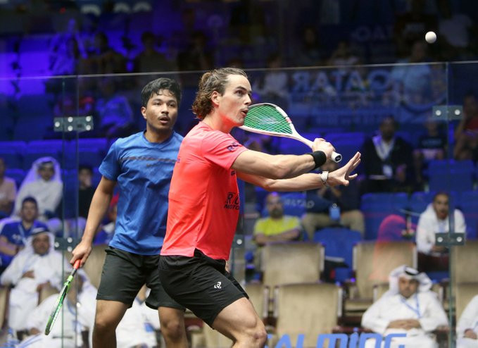 New Zealand's Paul Coll eased to victory over Qatar's Al-Amri ©PSA