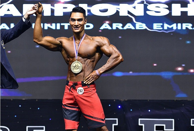 Liu impresses in physique contest at IFBB Men's World Championships