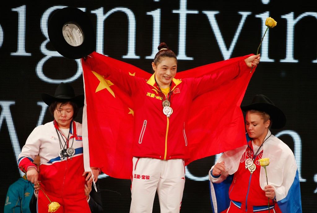 China's Kang lands overall gold as North Korean defies injury for triple silver at 2015 World Weightlifting Championships