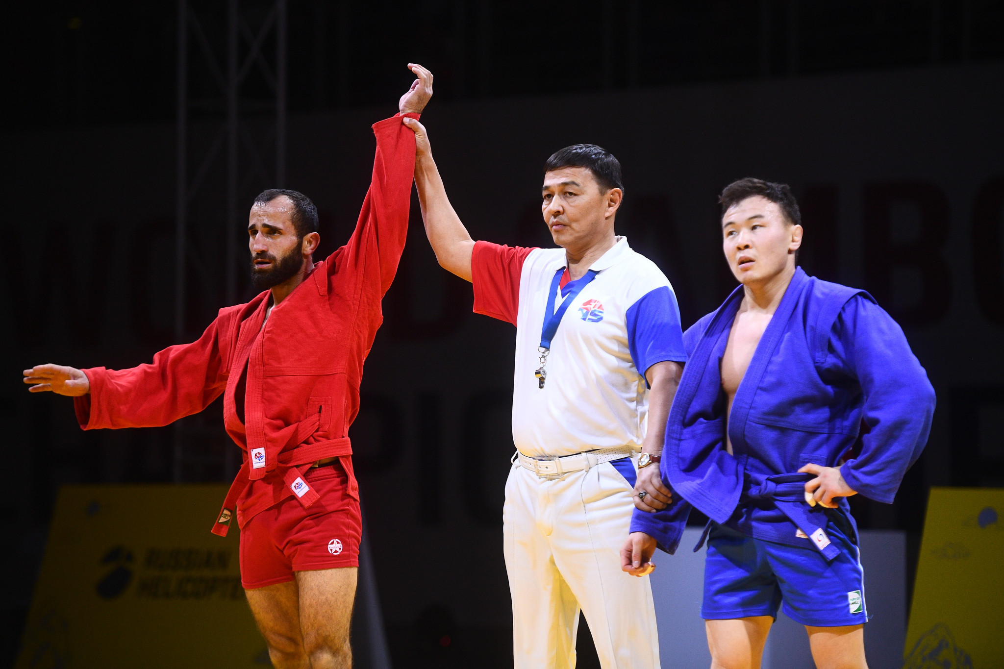 Vakhtangi Chidrashvili defeated Sayan Khertek to secure the 57kg title ©FIAS