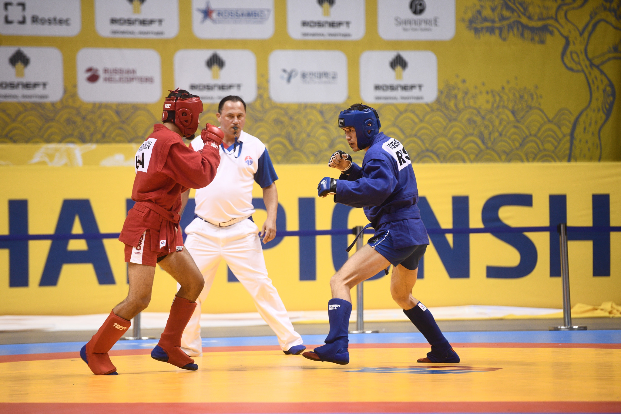 There was plenty of drama as the combat sambo competition drew to a conclusion ©FIAS