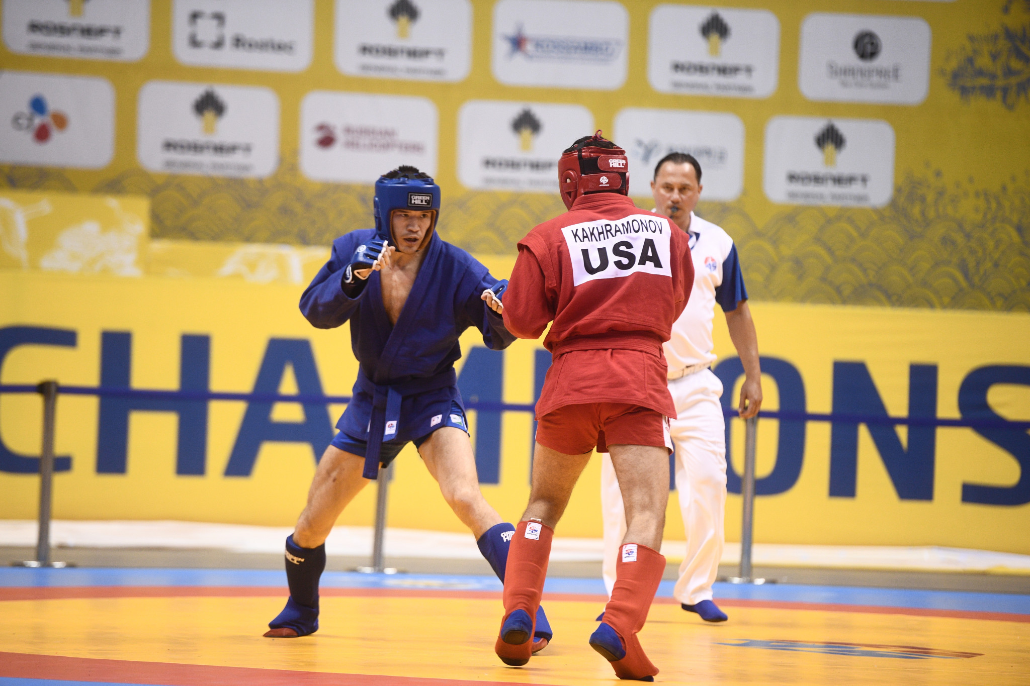 Saidyokub Kahkramonov won the first bronze medal for the United States at the event ©FIAS