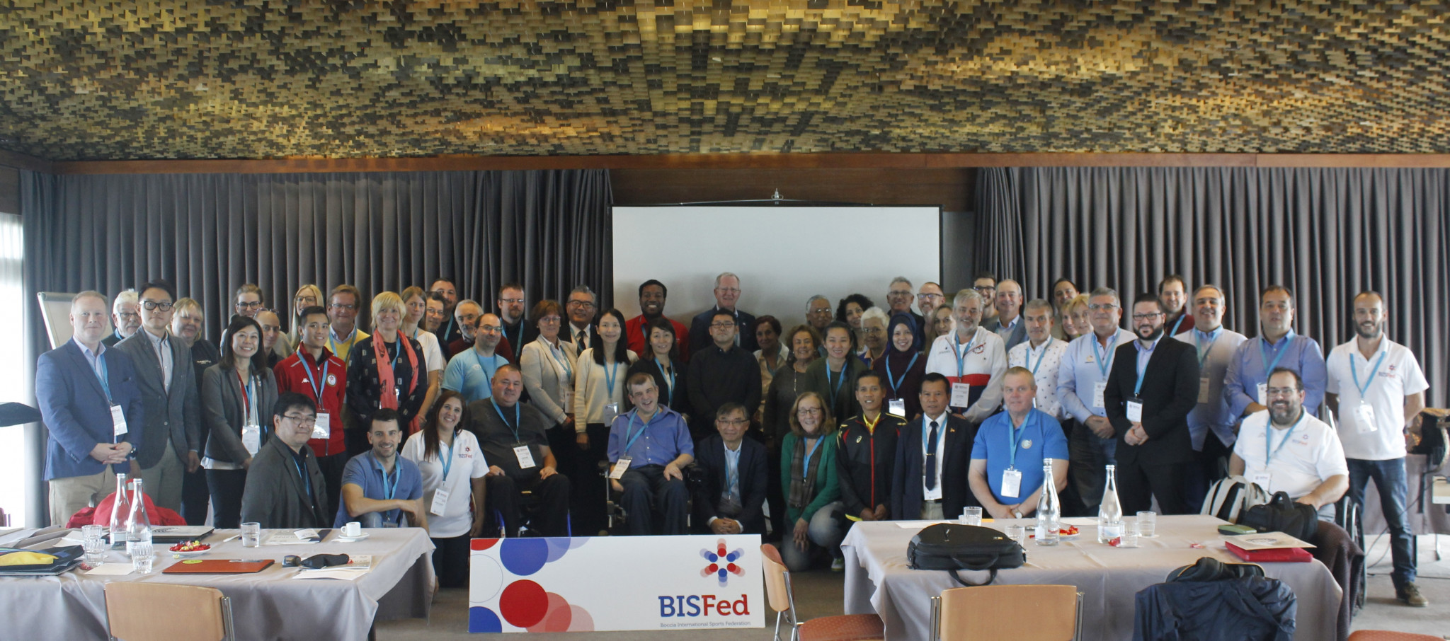 David Hadfield was re-elected at the General Assembly in Portugal ©BISFed