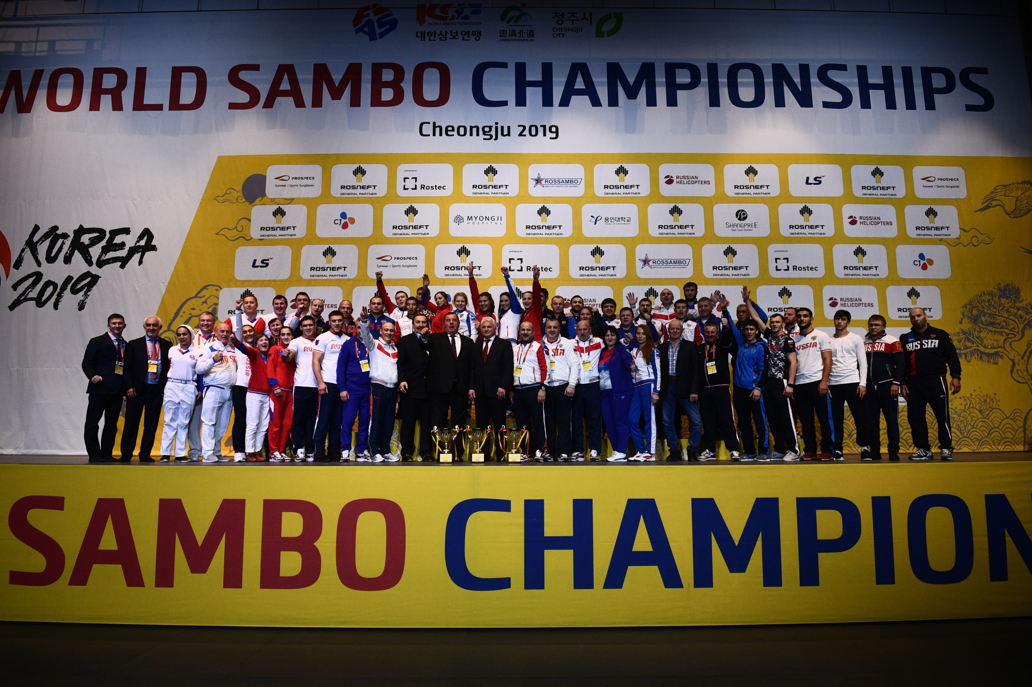 Russia surge to 20 golds to sweep team honours at World Sambo Championships