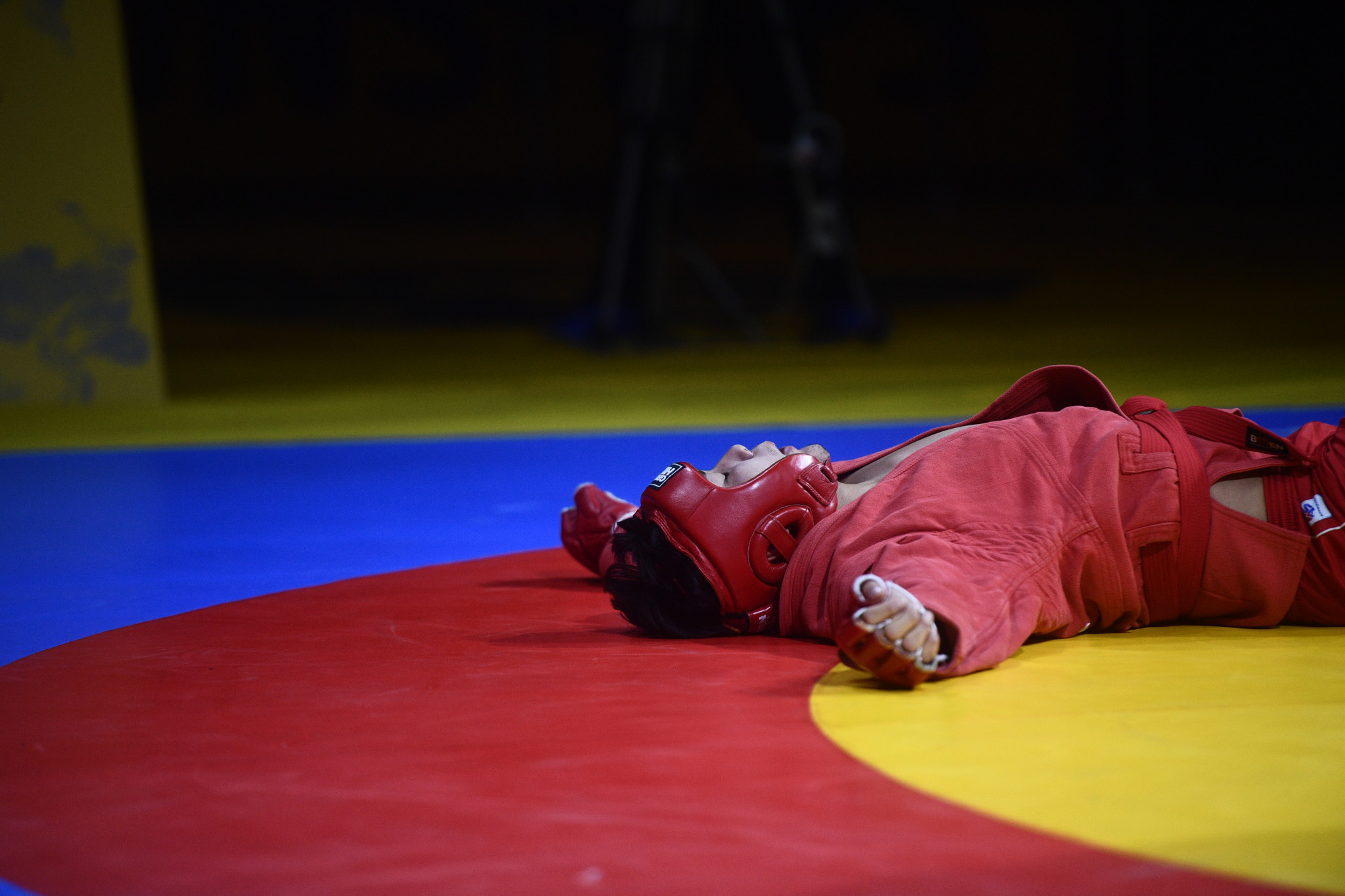 Combat sambo proved tiring for some of the competitors ©FIAS
