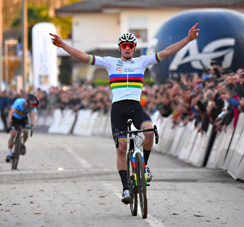 Van der Poel wins third successive Cyclo-Cross European Championships title