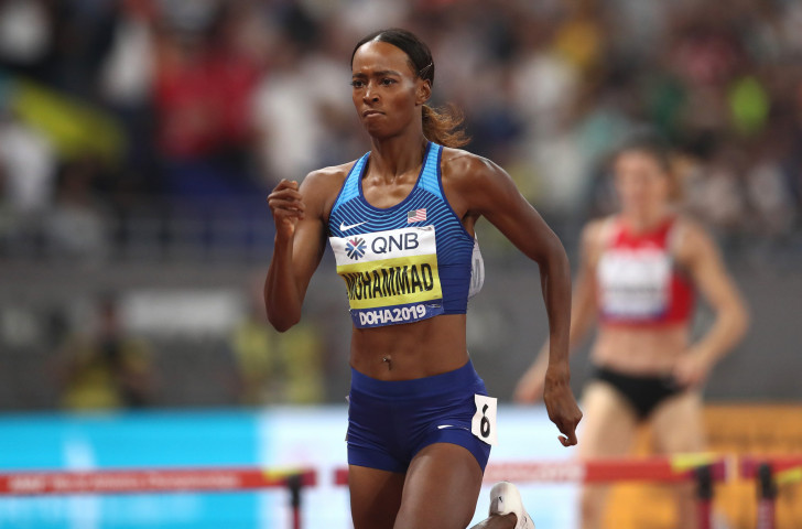 Dalilah Muhammad broke her own world record to win the world 400m hurdles title - and you can't do better than that. But will she be Women's World Athlete of the Year? ©Getty Images