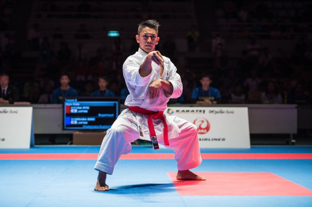 Japan's reigning world champion won men's kata gold