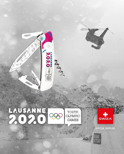 Swiza is creating specially-designed Lausanne 2020-branded knives ©Swiza/Instagram